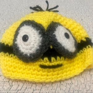 Other - 🆕 Boutique Hand Sewn  Baby Minion Yellow Hat